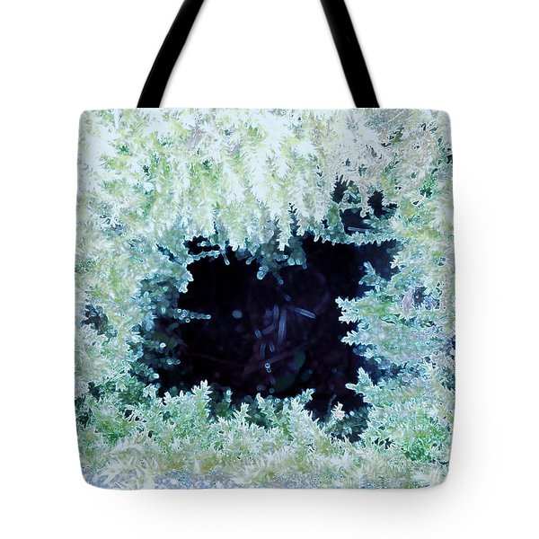 Tote Bag featuring the photograph Moss Geode by Renee Trenholm