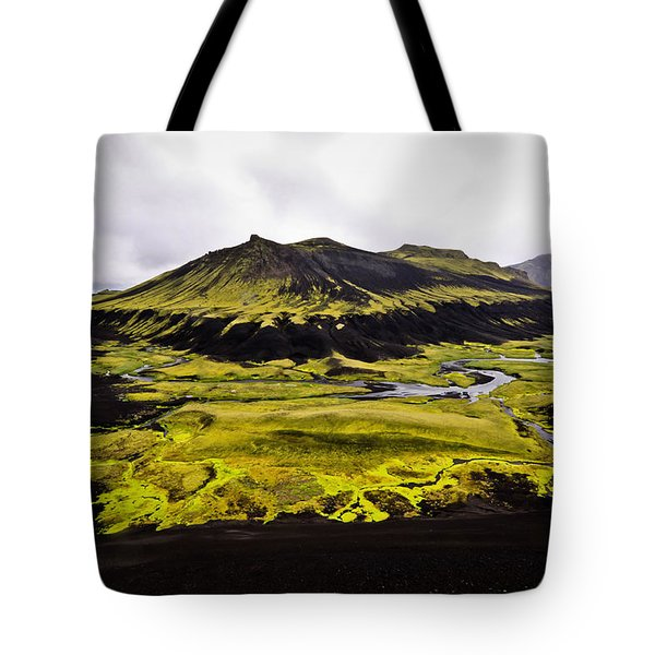 Moss In Iceland Tote Bag