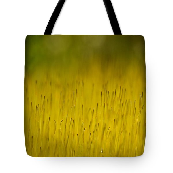 Moss In Yellow Tote Bag