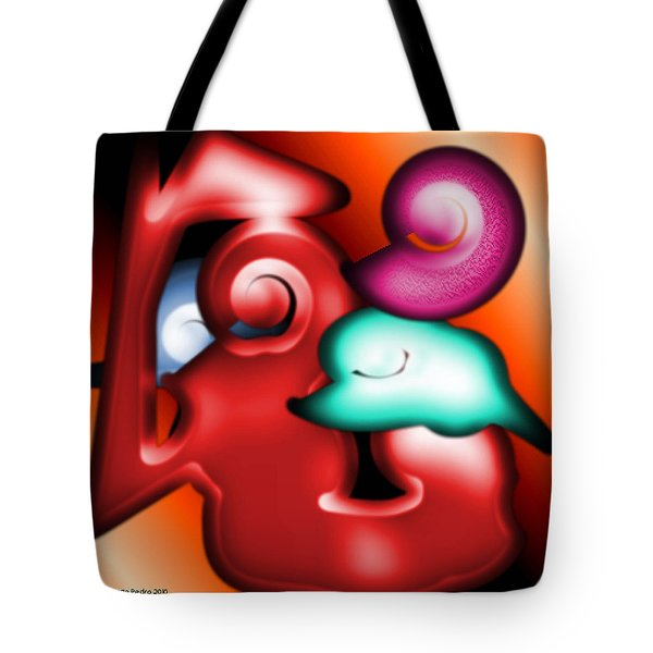 Tote Bag featuring the digital art Mother And Child by George Pedro