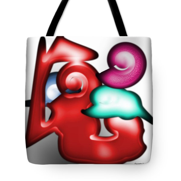 Tote Bag featuring the digital art Mother And Child In The Daylight by George Pedro
