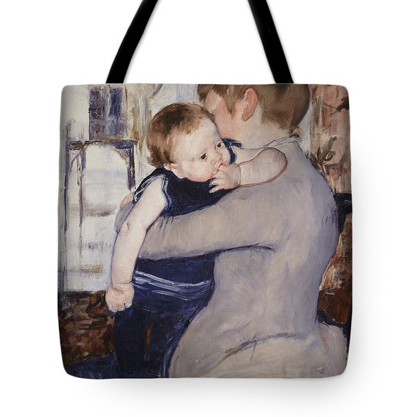 Mother And Child Tote Bag by Mary Stephenson