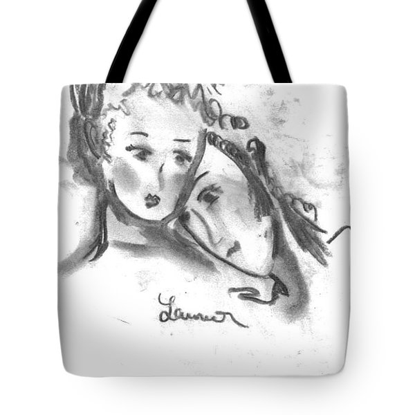 Mother Daughter Tote Bag by Laurie L