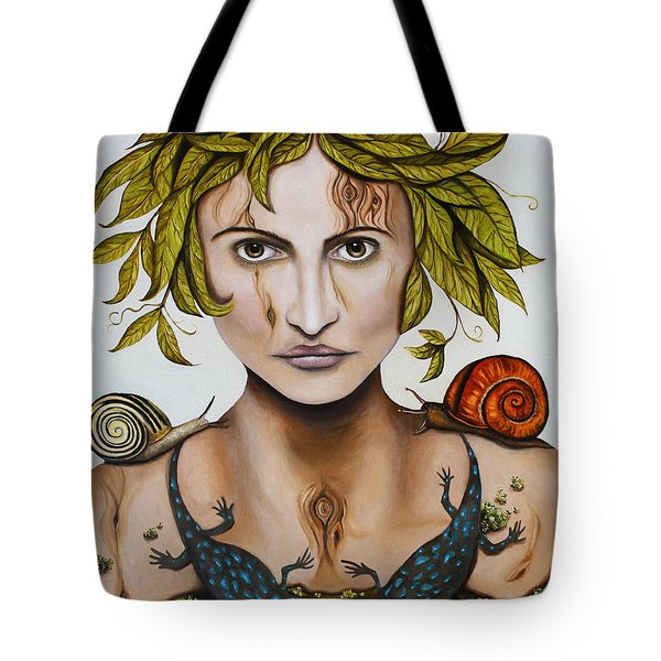 Mother Nature With Contrast Tote Bag