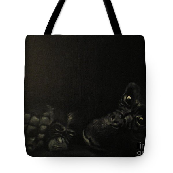 Tote Bag featuring the painting Motherhood by Annemeet Hasidi- van der Leij