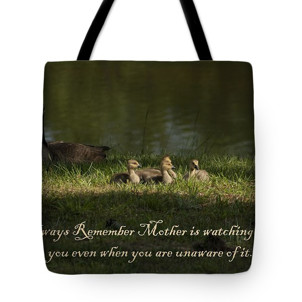 Mother's Watchful Eye Tote Bag by Kathy Clark