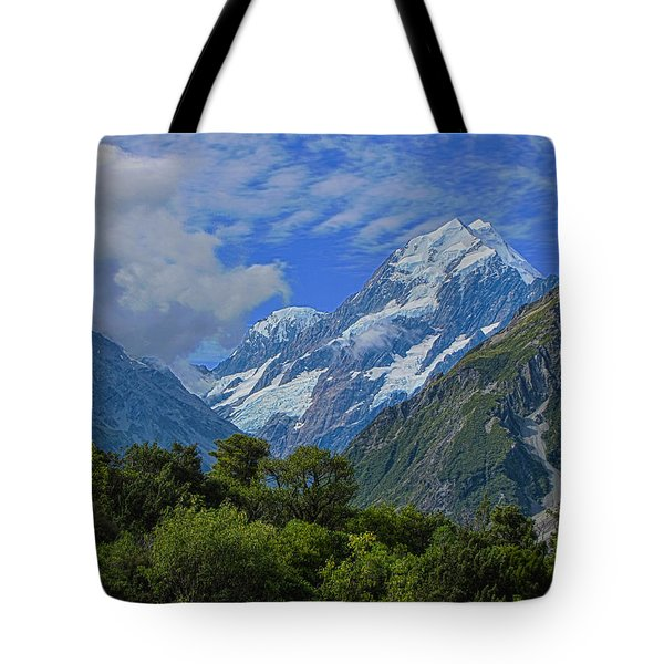 Tote Bag featuring the photograph Mount Cook by David Gleeson