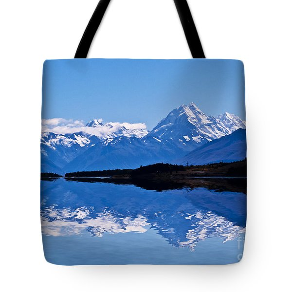 Mount Cook With Reflection Tote Bag by Avalon Fine Art Photography