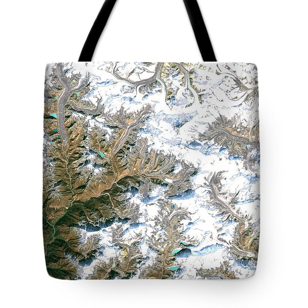 Mount Everest  Tote Bag by Planet Observer and Photo Researchers