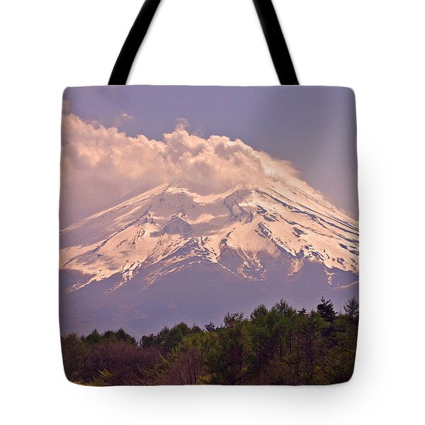 Mount Fuji Tote Bag by David Rucker