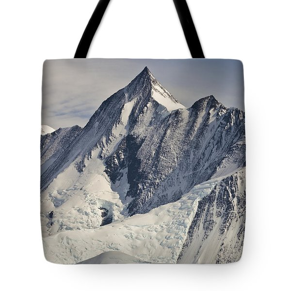 Mount Herschel Above Cape Hallett Tote Bag by Colin Monteath