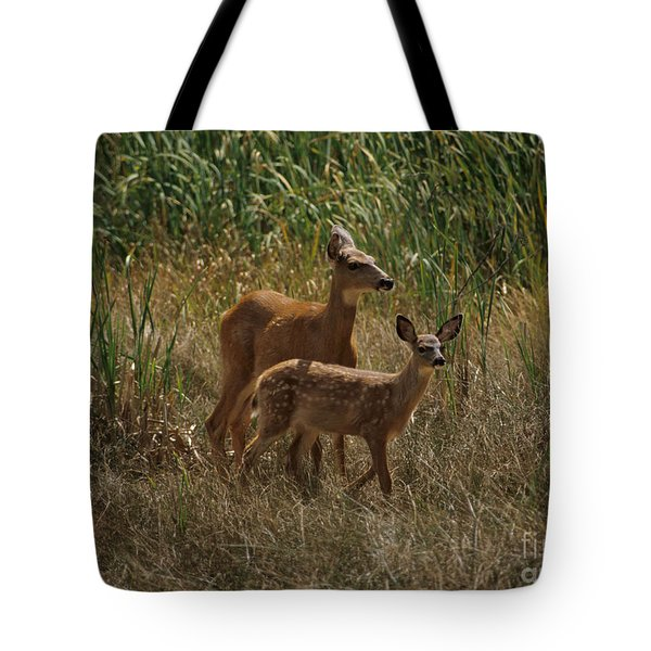 Tote Bag featuring the photograph Mount Rainier Residents by Sharon Elliott
