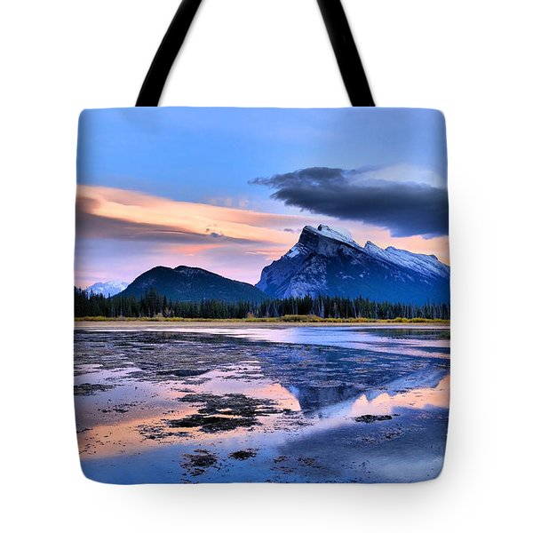Mount Rundle In The Evening Tote Bag by Tara Turner