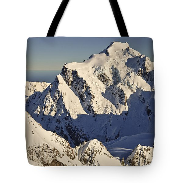 Mount Tutoko At Dawn Hollyford Valley Tote Bag by Colin Monteath