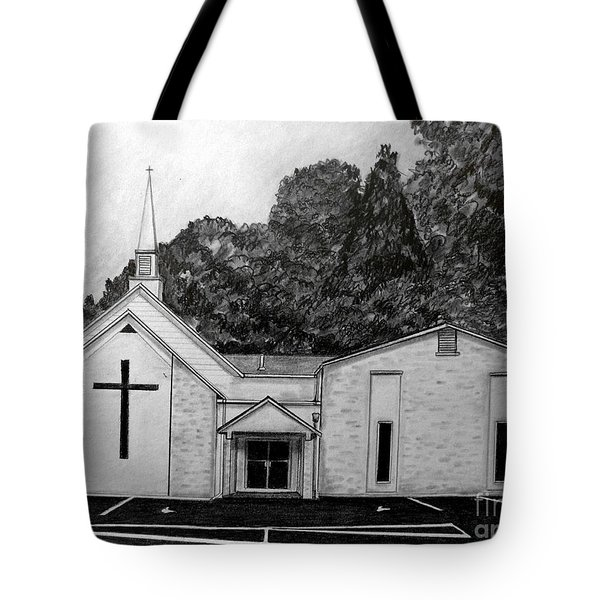 Mount Union Church Of The Brethren Tote Bag by Julie Brugh Riffey