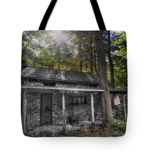 Mountain Cabin Tote Bag by Dan Friend