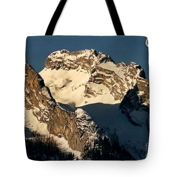 Mountain Christmas Austria Europe Tote Bag by Sabine Jacobs
