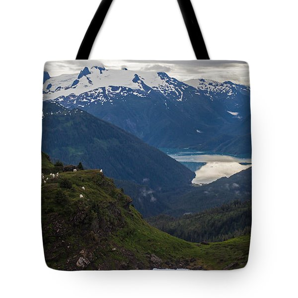 Mountain Flock Tote Bag by Mike Reid