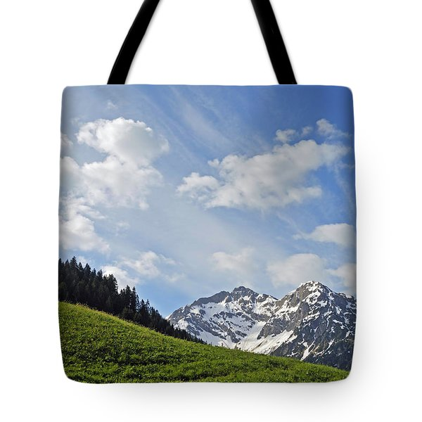 Mountain Landscape In The Alps Tote Bag by Matthias Hauser