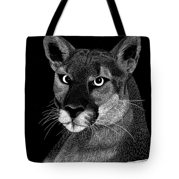 Mountain Lion Tote Bag by Kume Bryant