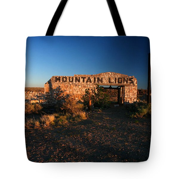 Tote Bag featuring the photograph Mountain Lions At Two Guns by Lon Casler Bixby