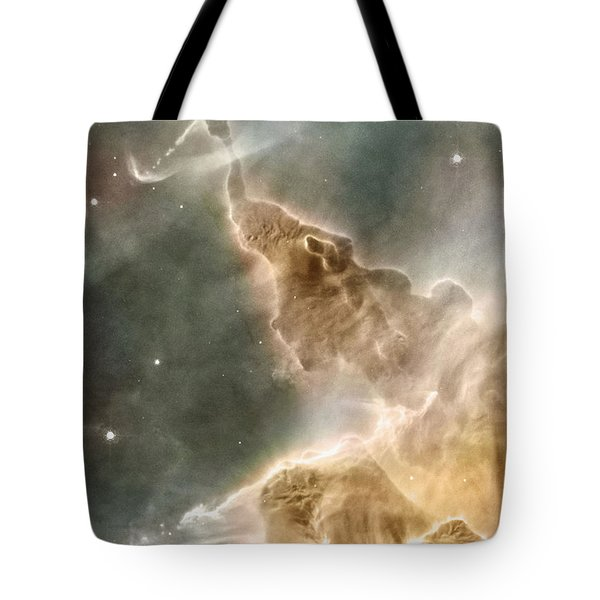 Mountain Of Cold Hydrogen Tote Bag by Nasa