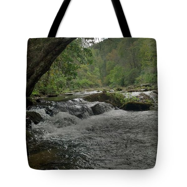 Mountain Stream Tote Bag by Janice Spivey