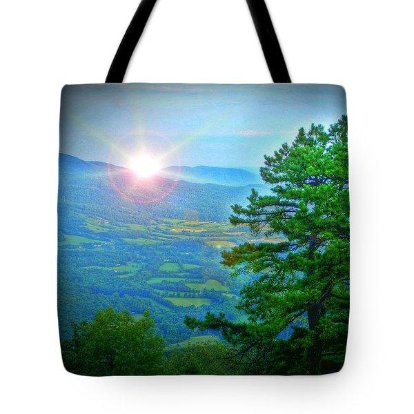 Mountain Sunrise Tote Bag by Dan Stone