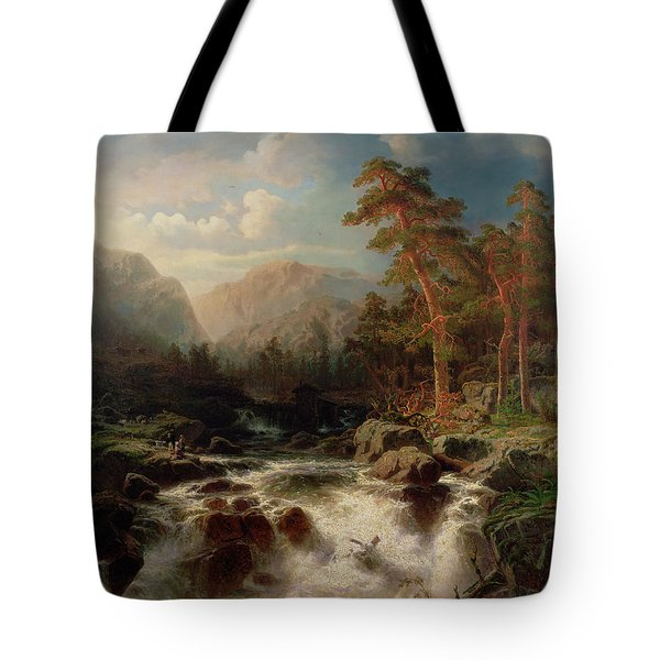 Mountain Torrent Smaland Tote Bag by Marcus Larson