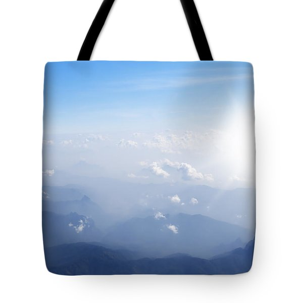 Mountain With Blue Sky And Clouds Tote Bag by Setsiri Silapasuwanchai