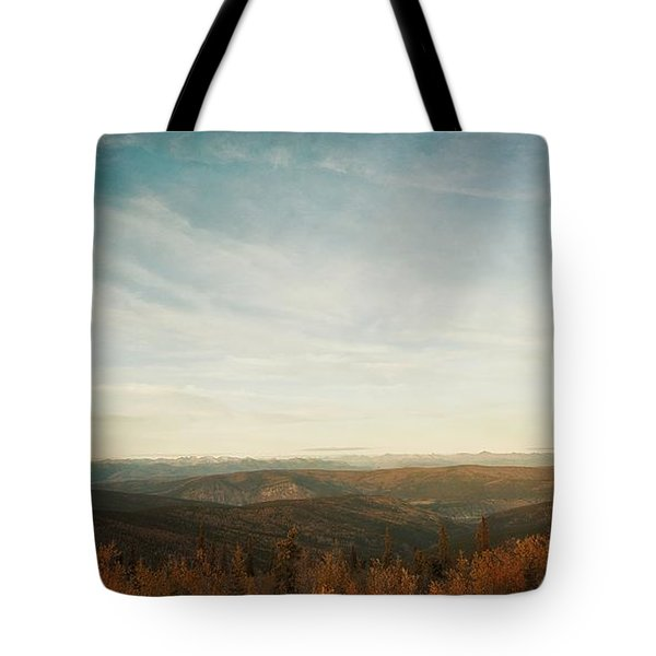 Mountains As Far As The Eye Can See Tote Bag by Priska Wettstein