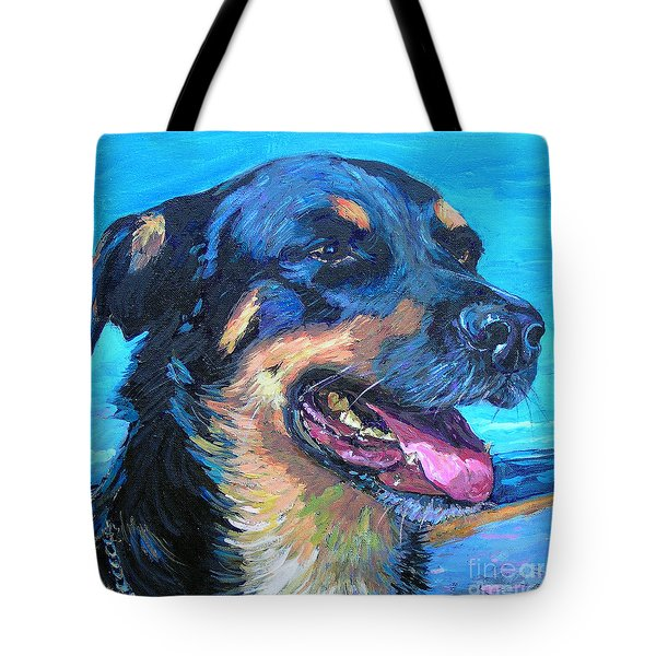 Tote Bag featuring the painting Mr. Z by Li Newton