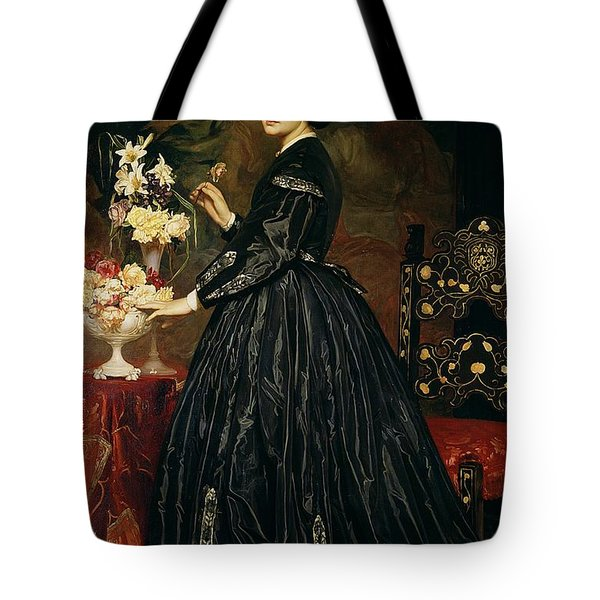 Mrs James Guthrie Tote Bag by Frederic Leighton