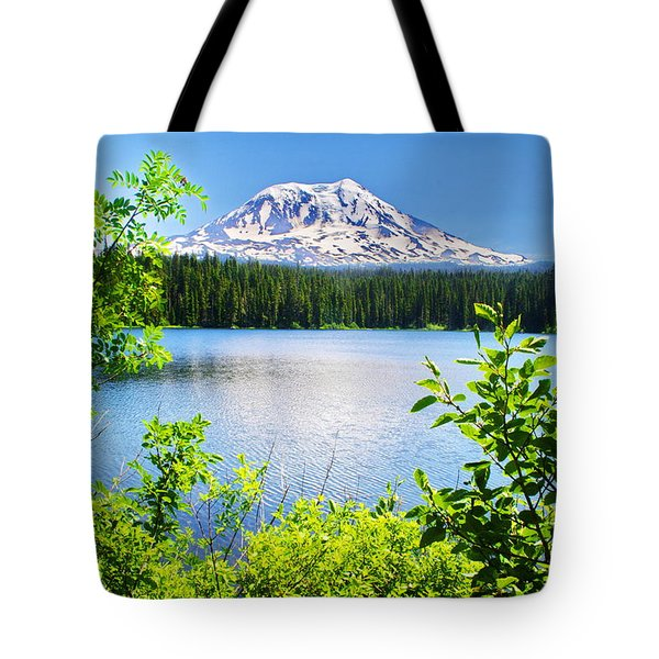 Mt Adams And Takhlakh Lake Tote Bag