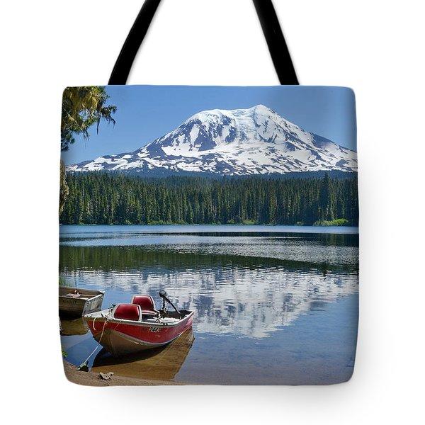 Mt Adams At The Lake Tote Bag