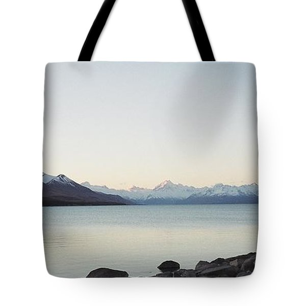 Mt Cook From Lake Pukaki Tote Bag by Peter Mooyman