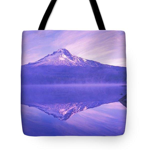 Mt. Hood And Trillium Lake Mt Hood Tote Bag by Dan Sherwood