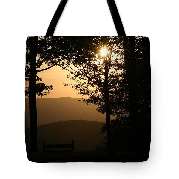 Mt Pisqah Sunset Tote Bag
