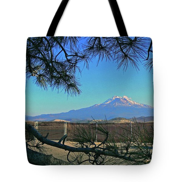 Mt Shasta At Weed  Tote Bag by Pamela Patch