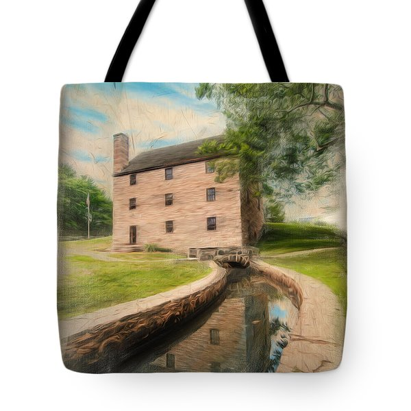 Mt. Vernon Gristmill Art Tote Bag by Jim Moore