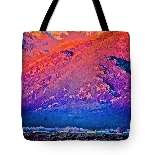 Mt Wheeler At Sunset Tote Bag