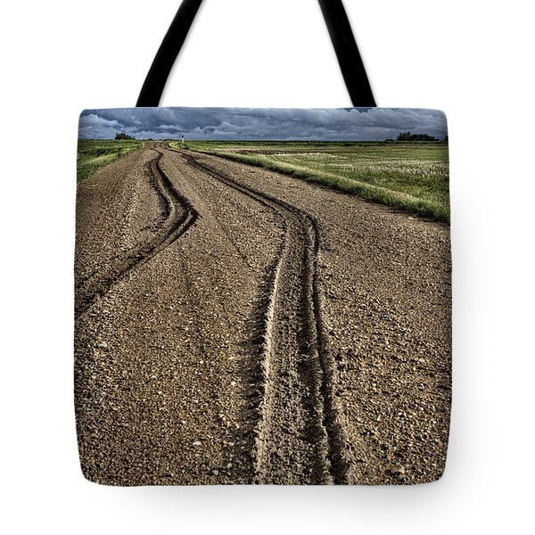Mud Tire Tracks Tote Bag by Mark Duffy