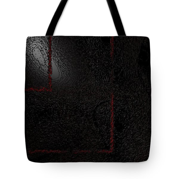 Tote Bag featuring the digital art Muddy by Jeff Iverson