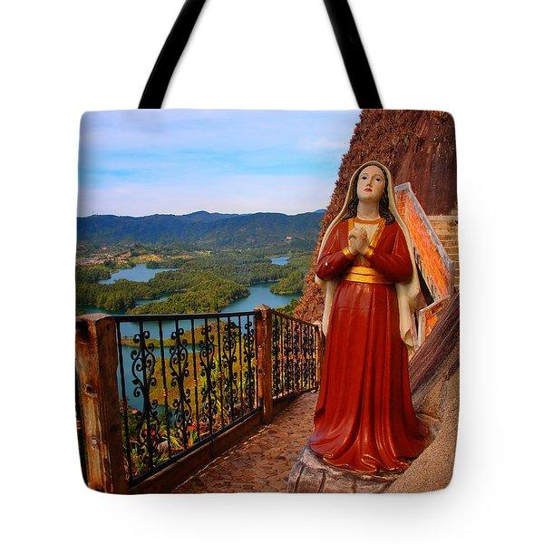 Mujer De La Piedra Tote Bag by Skip Hunt