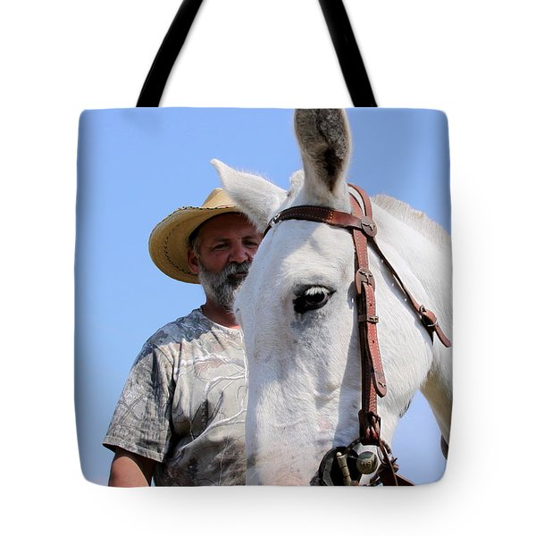 Mules At Benson Mule Day Tote Bag by Travis Truelove