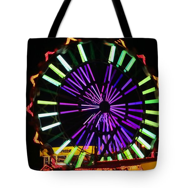 Multi Colored Ferris Wheel Tote Bag by Kym Backland