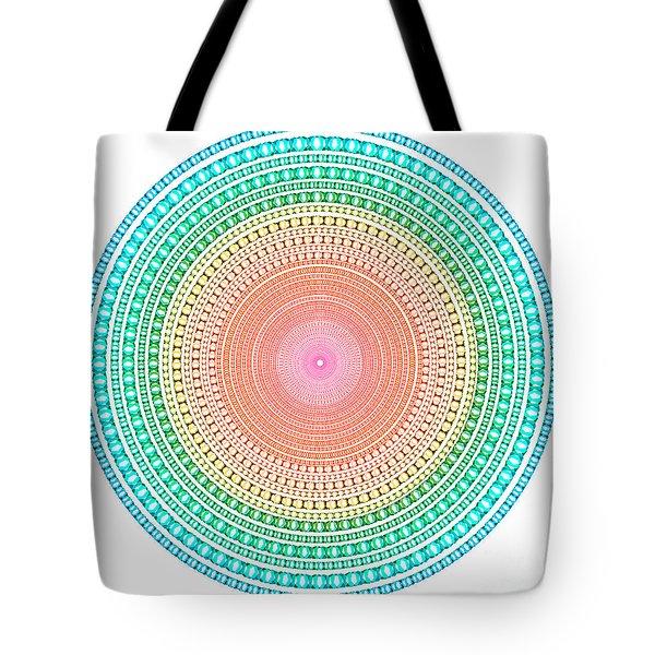 Multicolor Circle Tote Bag