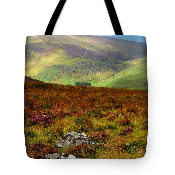 Multicolored Hills Of Wicklow. Ireland Tote Bag by Jenny Rainbow