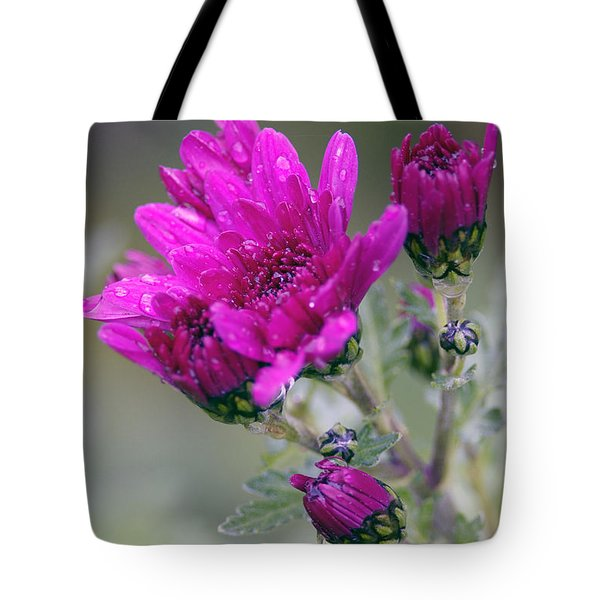 Mum With Raindrops Tote Bag by Sharon Talson
