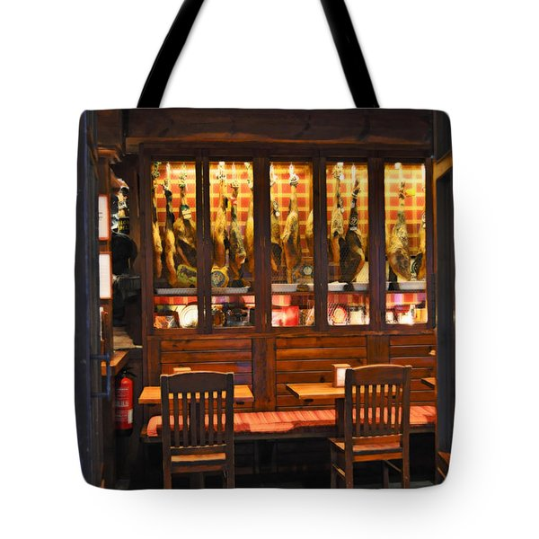 Museo De Jamon Seville Tote Bag by Mary Machare